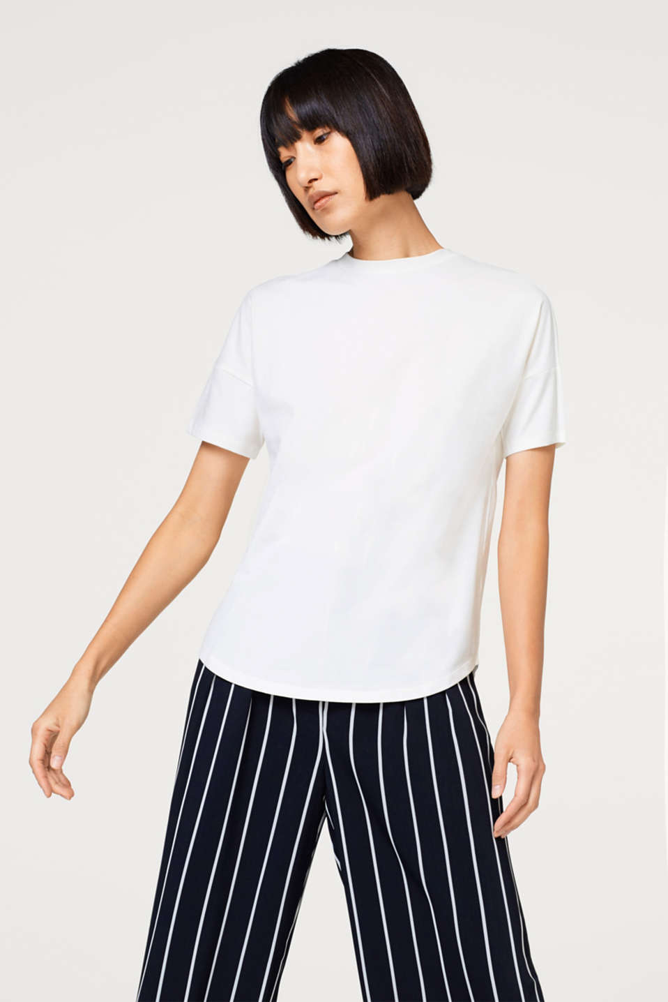Esprit - Stretchy T-shirt with organic cotton
