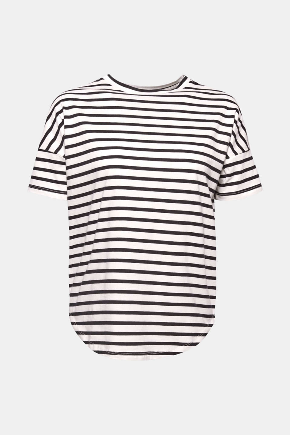 Fashion basic in a nautical look: this striped T-shirt in beautifully finished organic cotton.