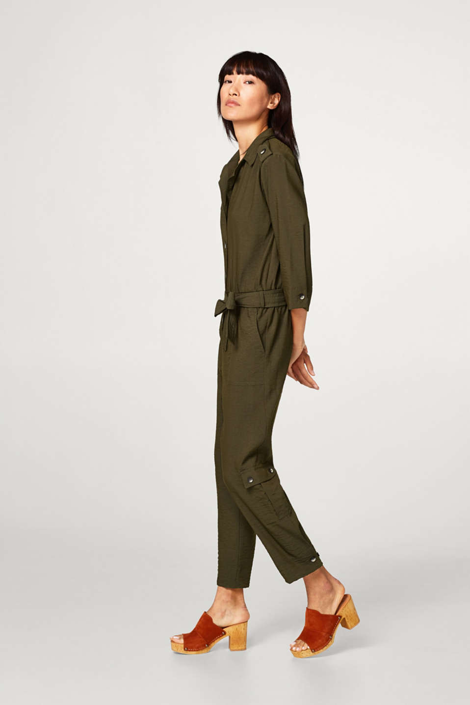 Esprit - Flowing trench-look jumpsuit