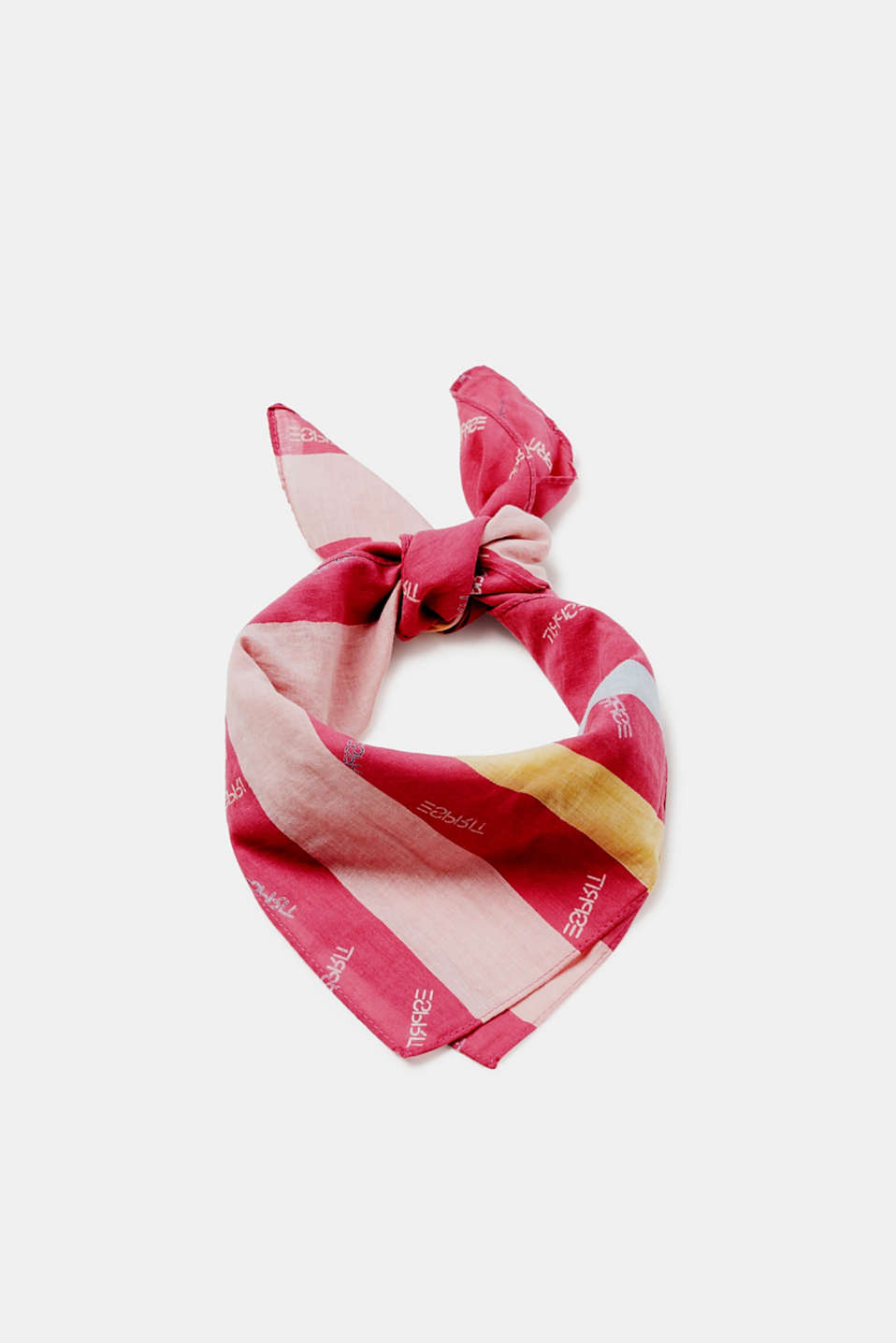 Esprit - Lightweight cotton scarf with a logo print