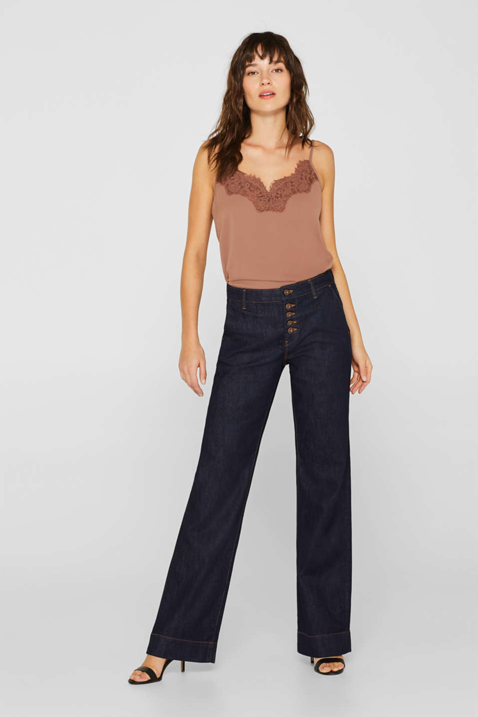 edc - Wide leg stretchjeans met organic cotton