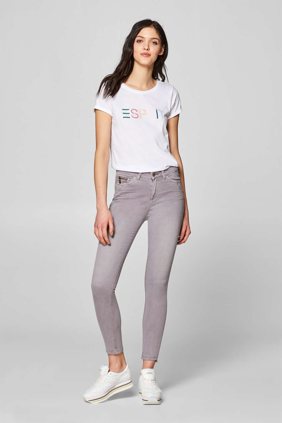 edc - Ankle-length stretch trousers with zip detail