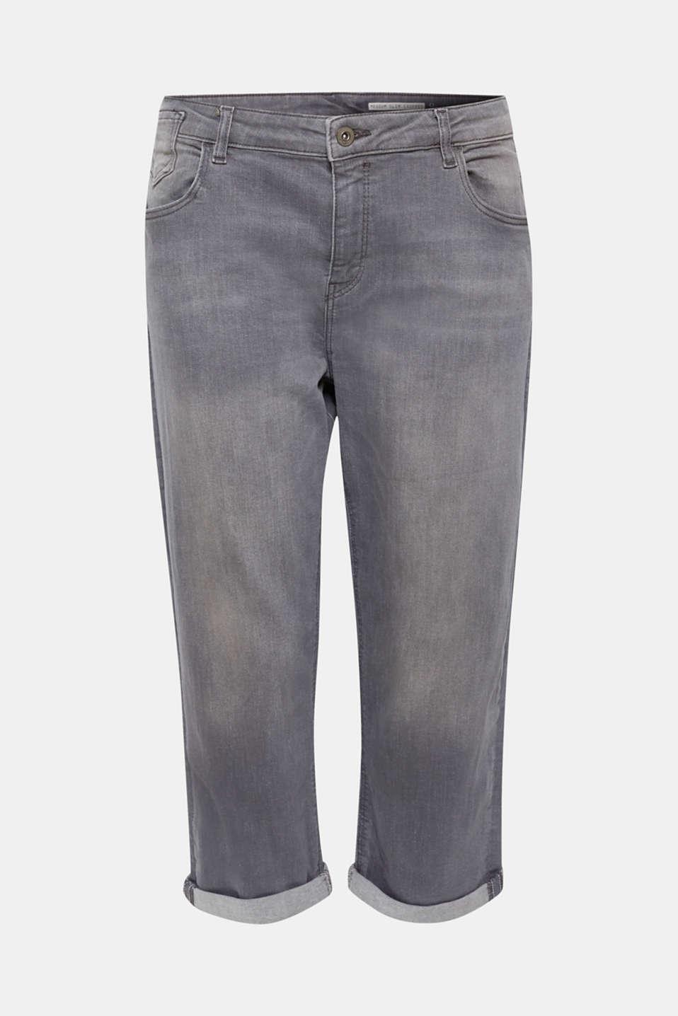 Pants denim, GREY LIGHT WASH, detail image number 7