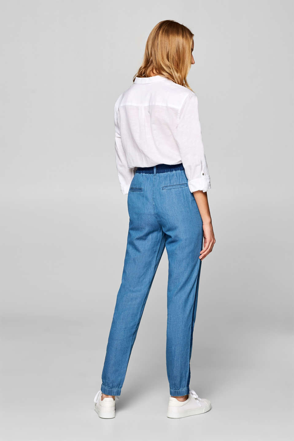 Pants woven, DARK BLUE, detail image number 3