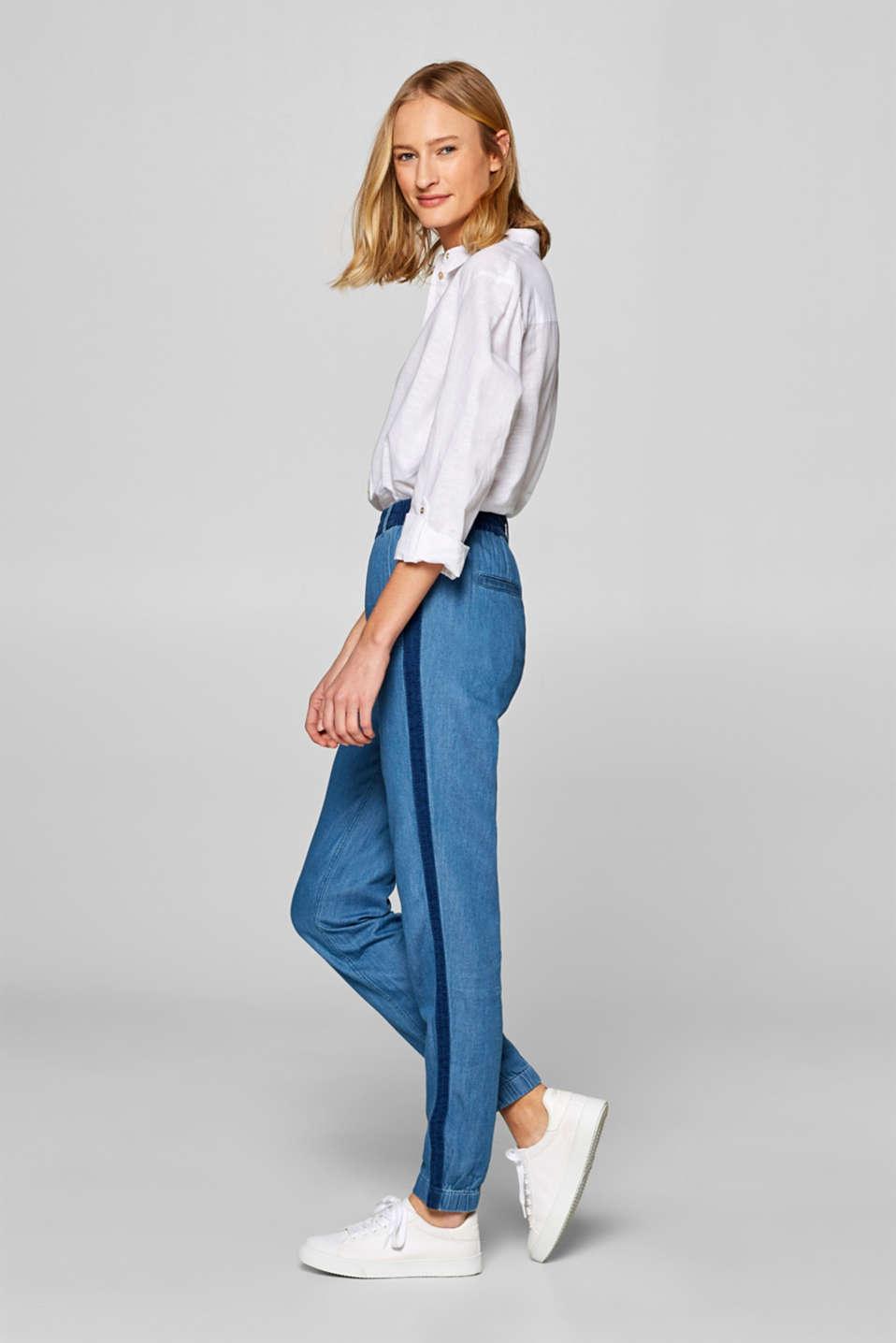 Pants woven, DARK BLUE, detail image number 1