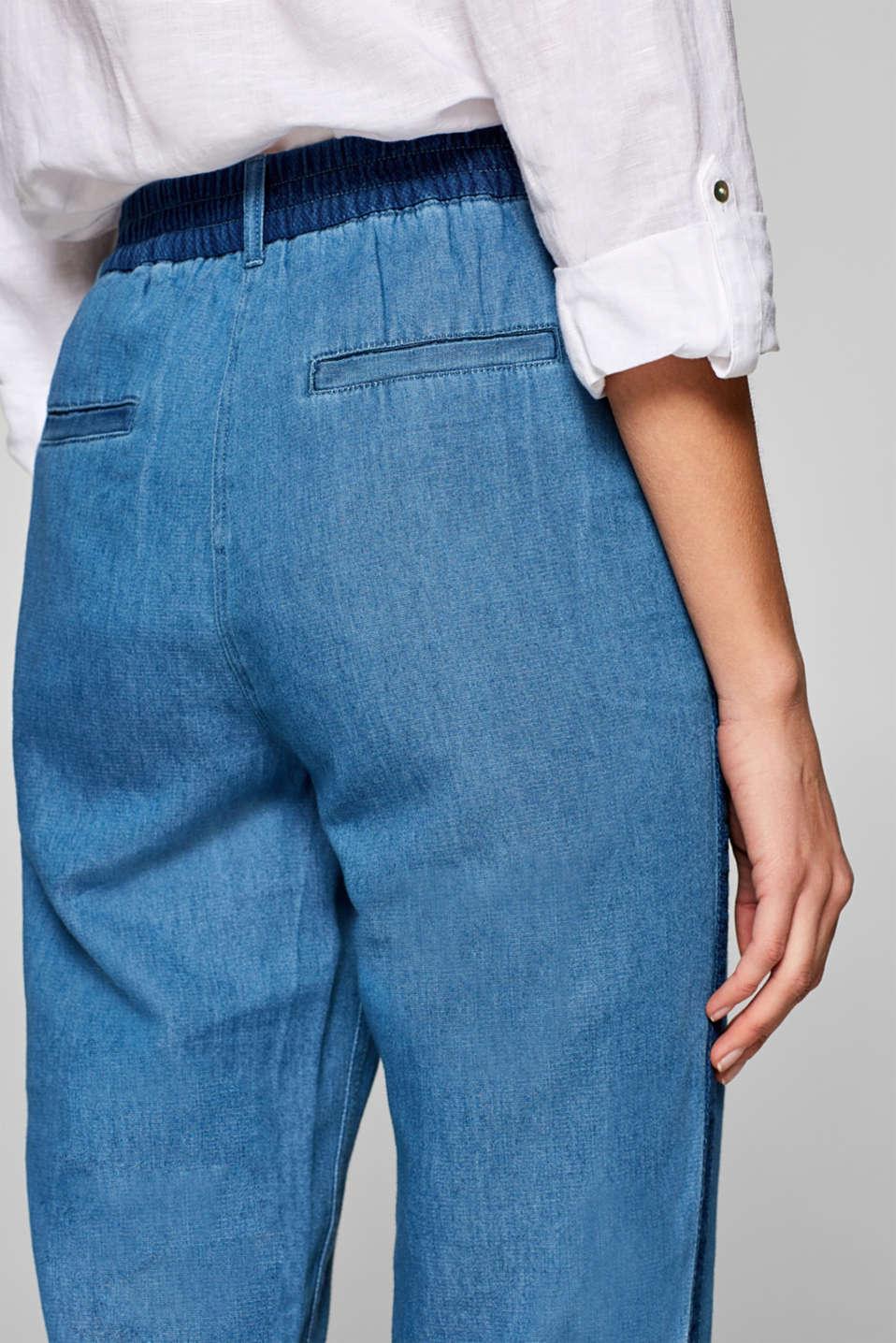 Pants woven, DARK BLUE, detail image number 5