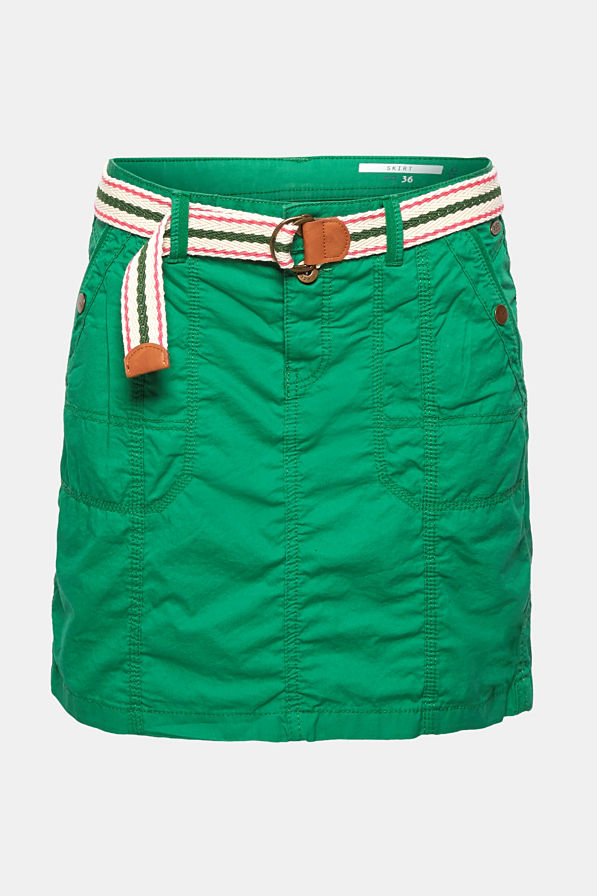 PLAY skirt with belt, 100% cotton