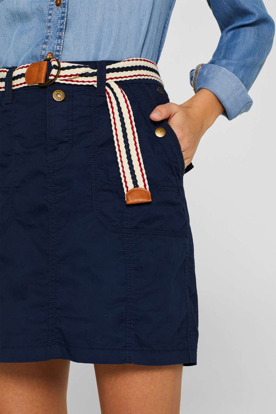 Skirts woven, NAVY, detail image number 1