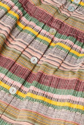 Multi-coloured skirt with button placket, 100% cotton