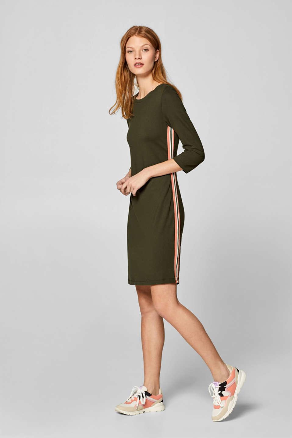 06547c033b8 edc - Jerseystretch-kjole med racing-striber i Esprits Online-Shop