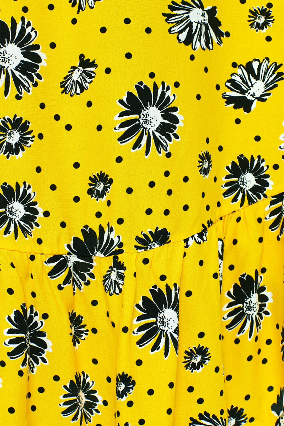 Printed dress with jersey borders, YELLOW, detail image number 5