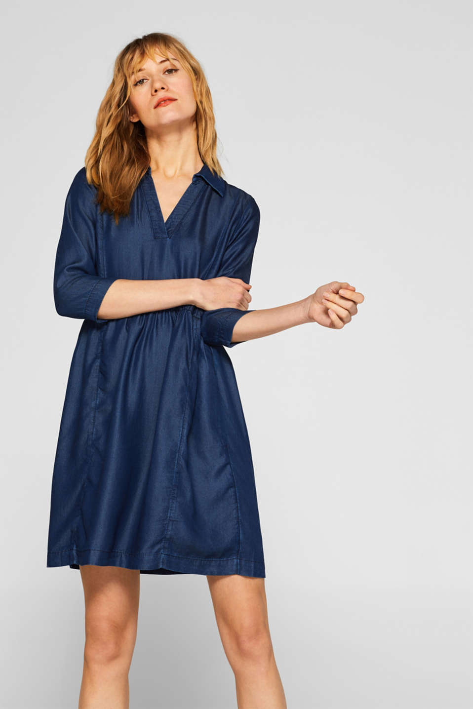 edc - Robe au look denim en TENCEL™