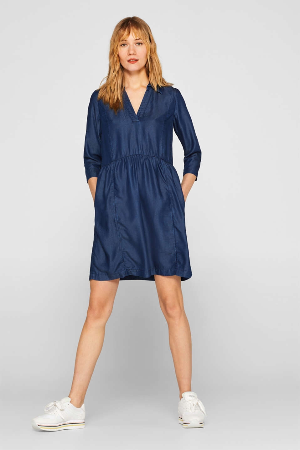 Denim-effect TENCEL™ dress