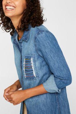 Denim shirt with appliqué, 100% cotton