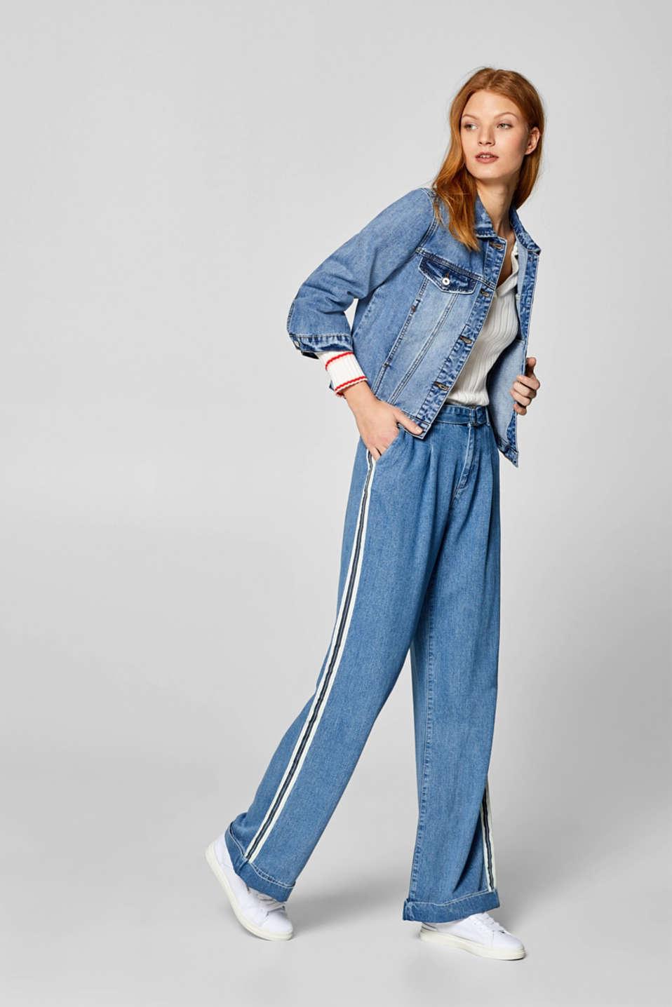 Jackets indoor woven, BLUE MEDIUM WASH, detail image number 1