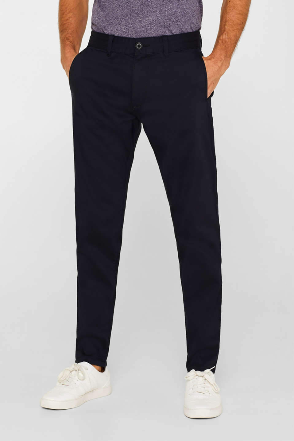 edc - Stretch trousers with a drawstring waistband