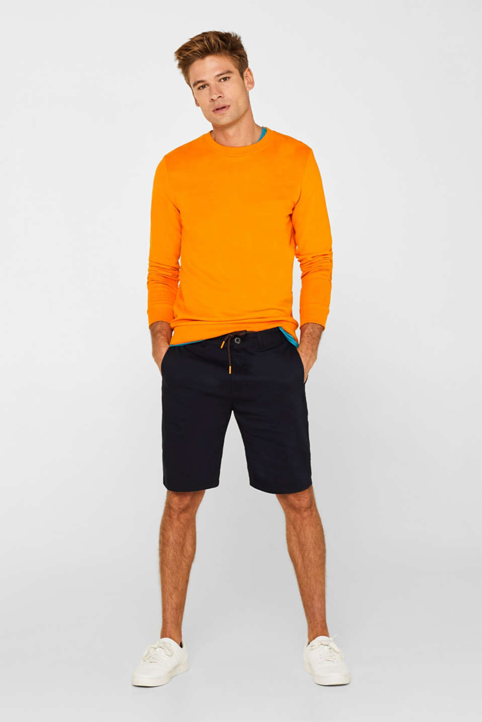 Shorts woven Slim fit, NAVY, detail image number 1