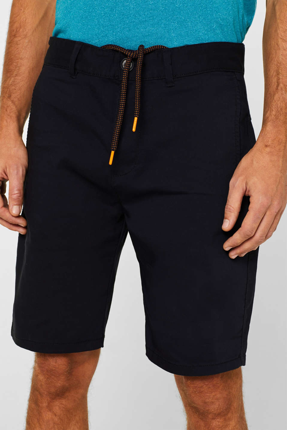 Shorts woven Slim fit, NAVY, detail image number 2