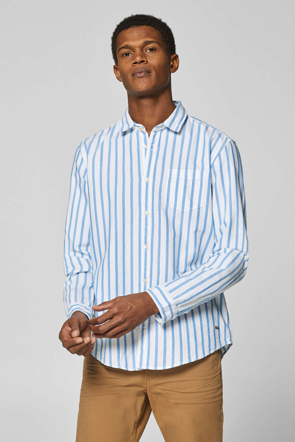 edc - Striped shirt in 100% cotton
