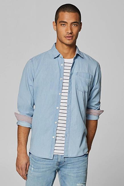 Camisa vaquera en 100% algodón 8d49abe1b130