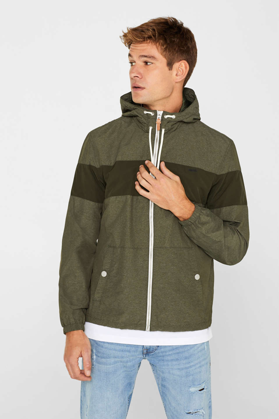 edc - Nylon jacket with hood