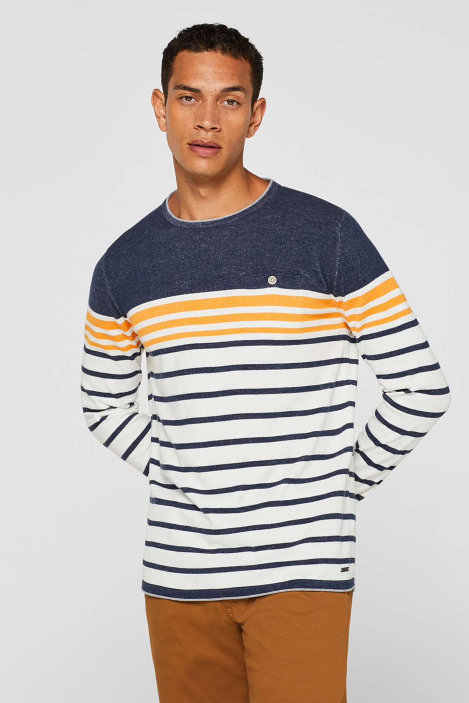edc - Striped jumper in 100% cotton