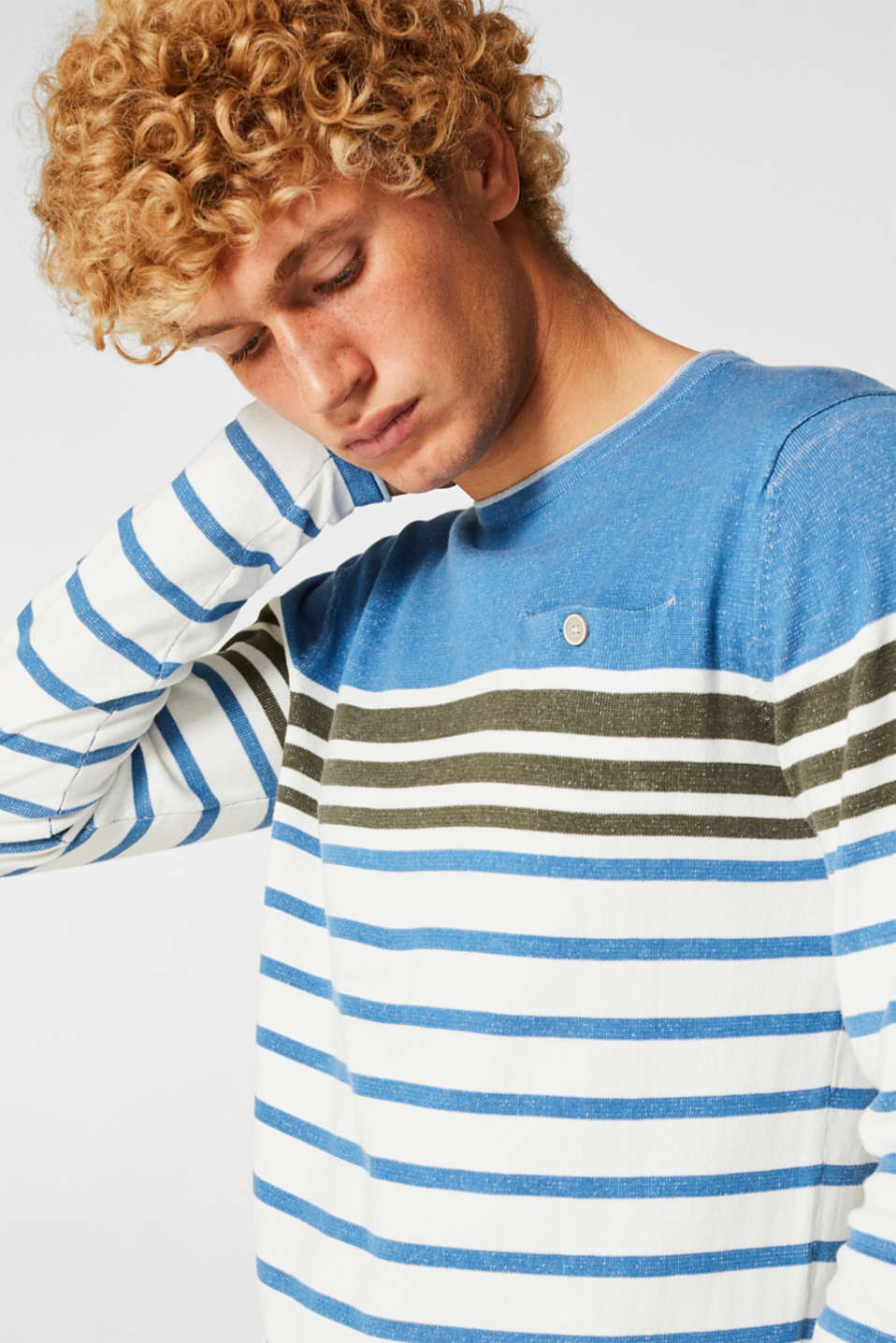 Sweaters, BLUE, detail image number 2