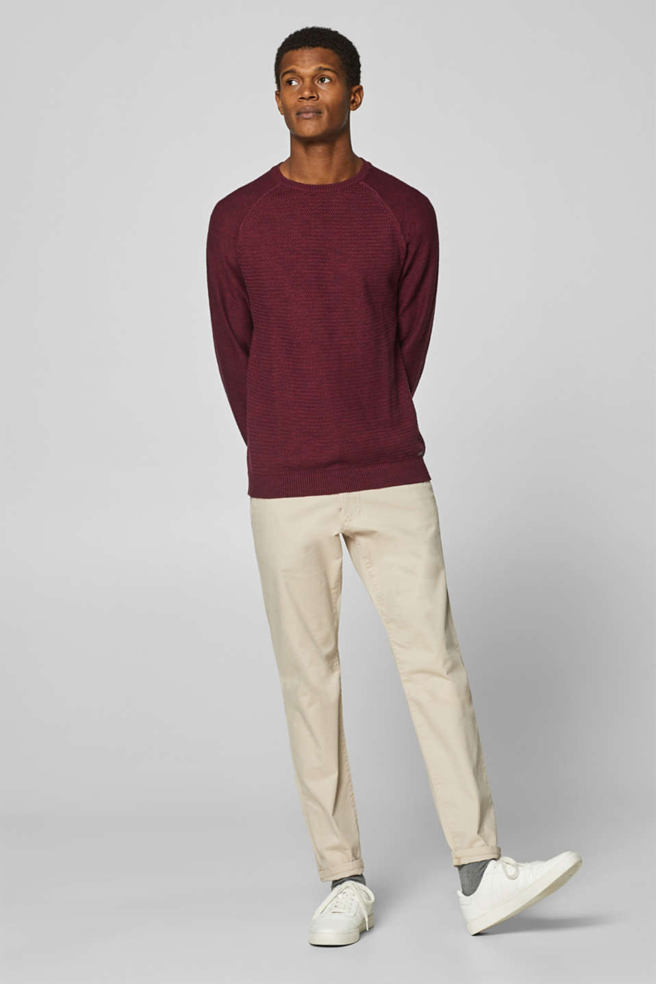 Sweaters, BORDEAUX RED, detail image number 4