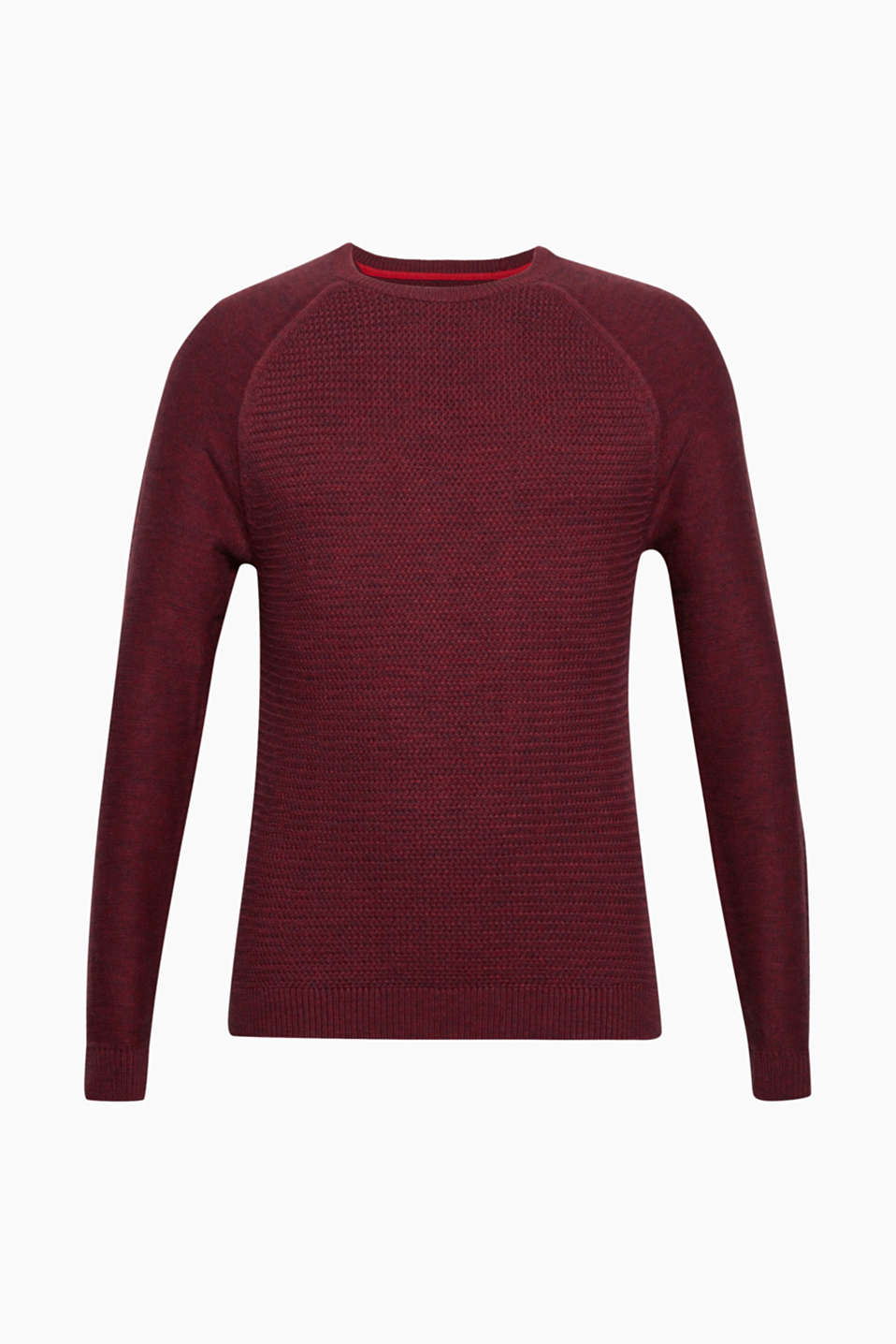Sweaters, BORDEAUX RED, detail image number 7