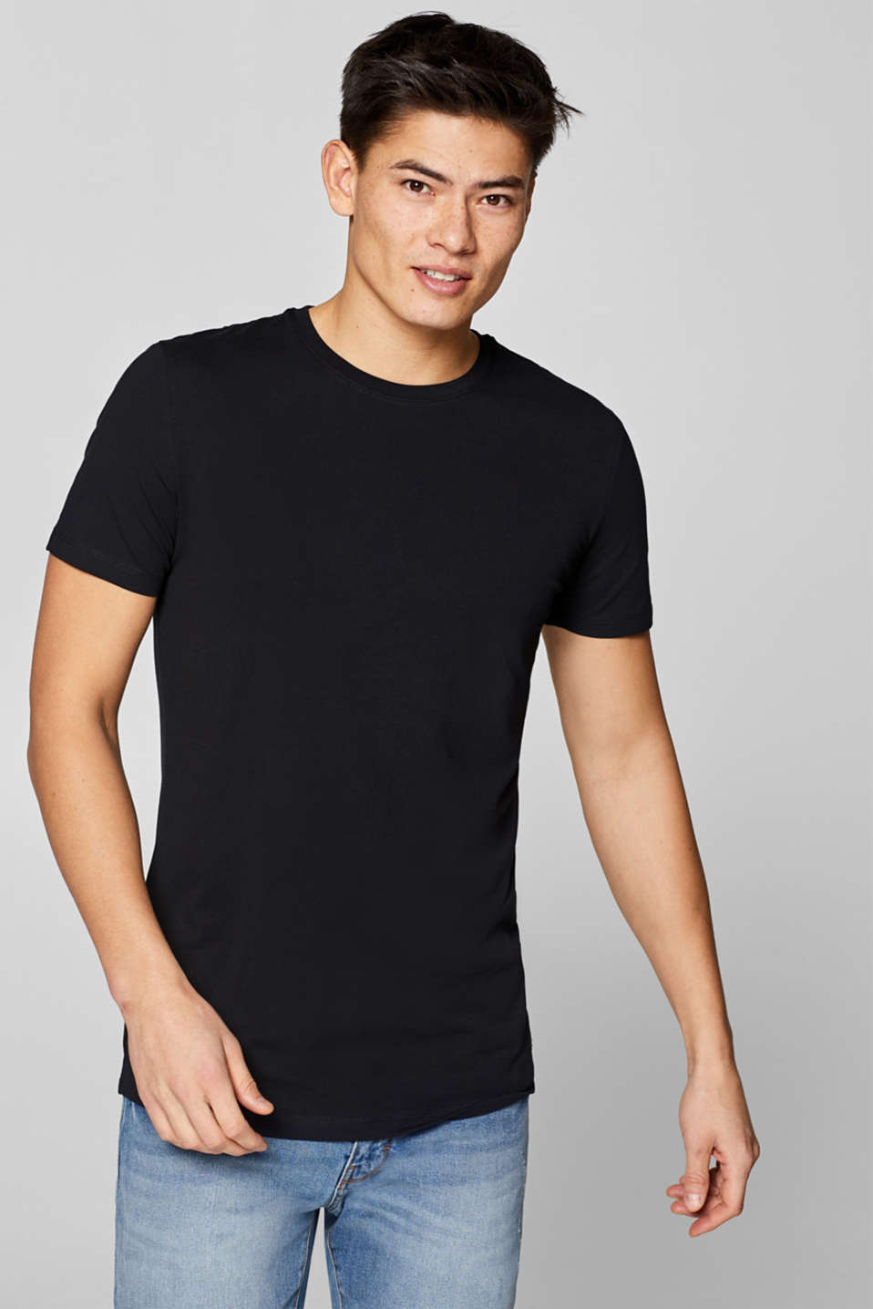 Double pack of muscle fit tops in cotton jersey
