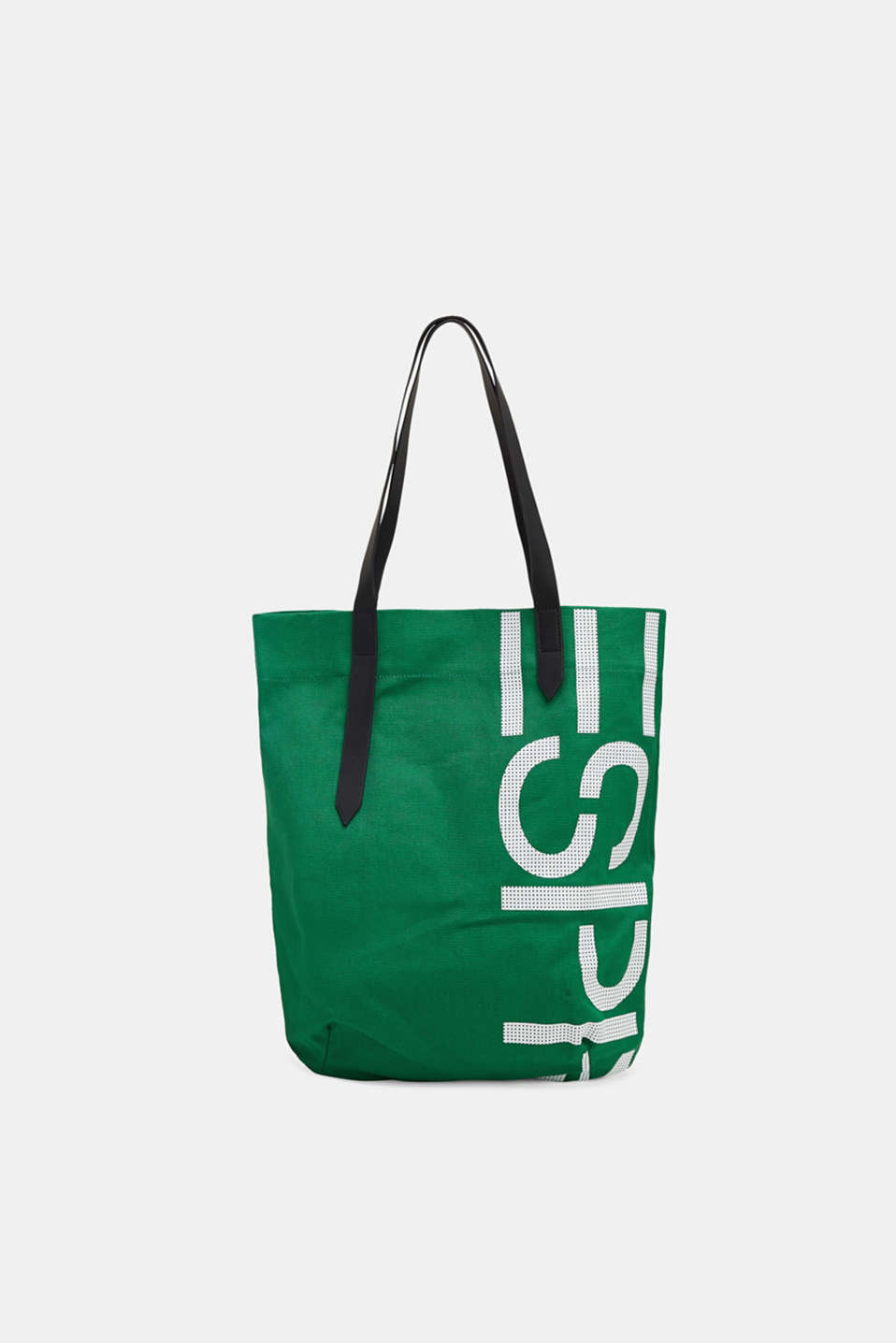 Esprit - Kanvas-shopper logoprint, 100% bomuld