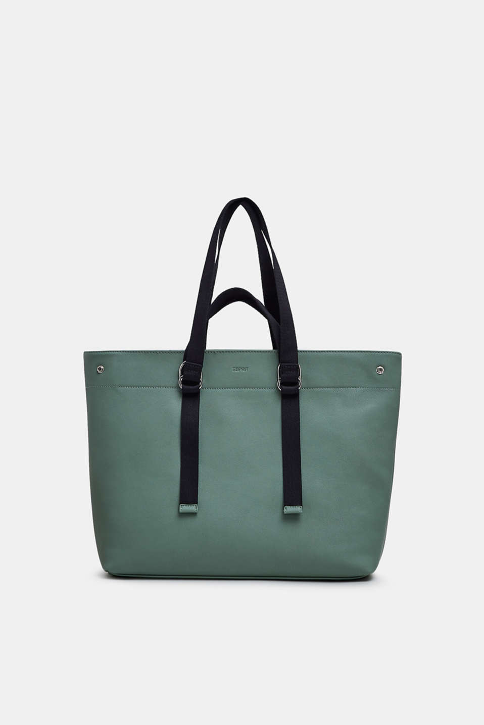 Esprit - Shopper met geweven banden, in leerlook