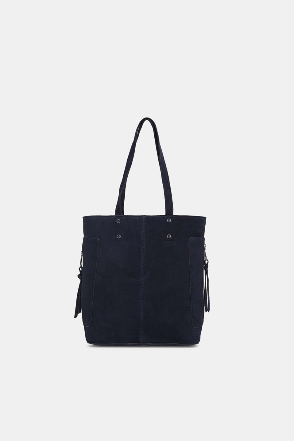 Leather shopper, NAVY, detail image number 0