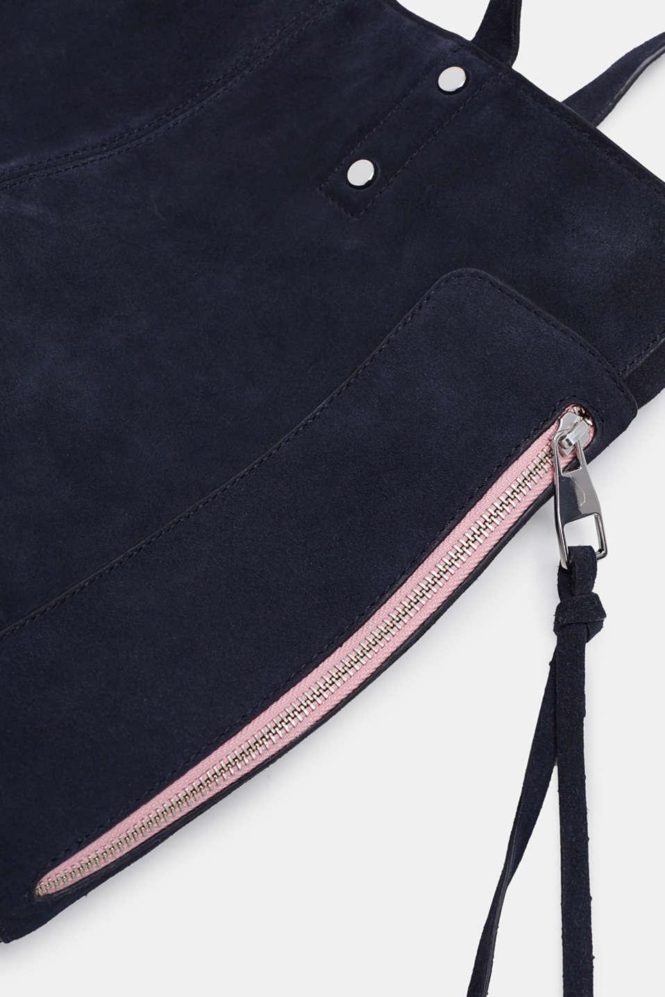 Leather shopper, NAVY, detail image number 3