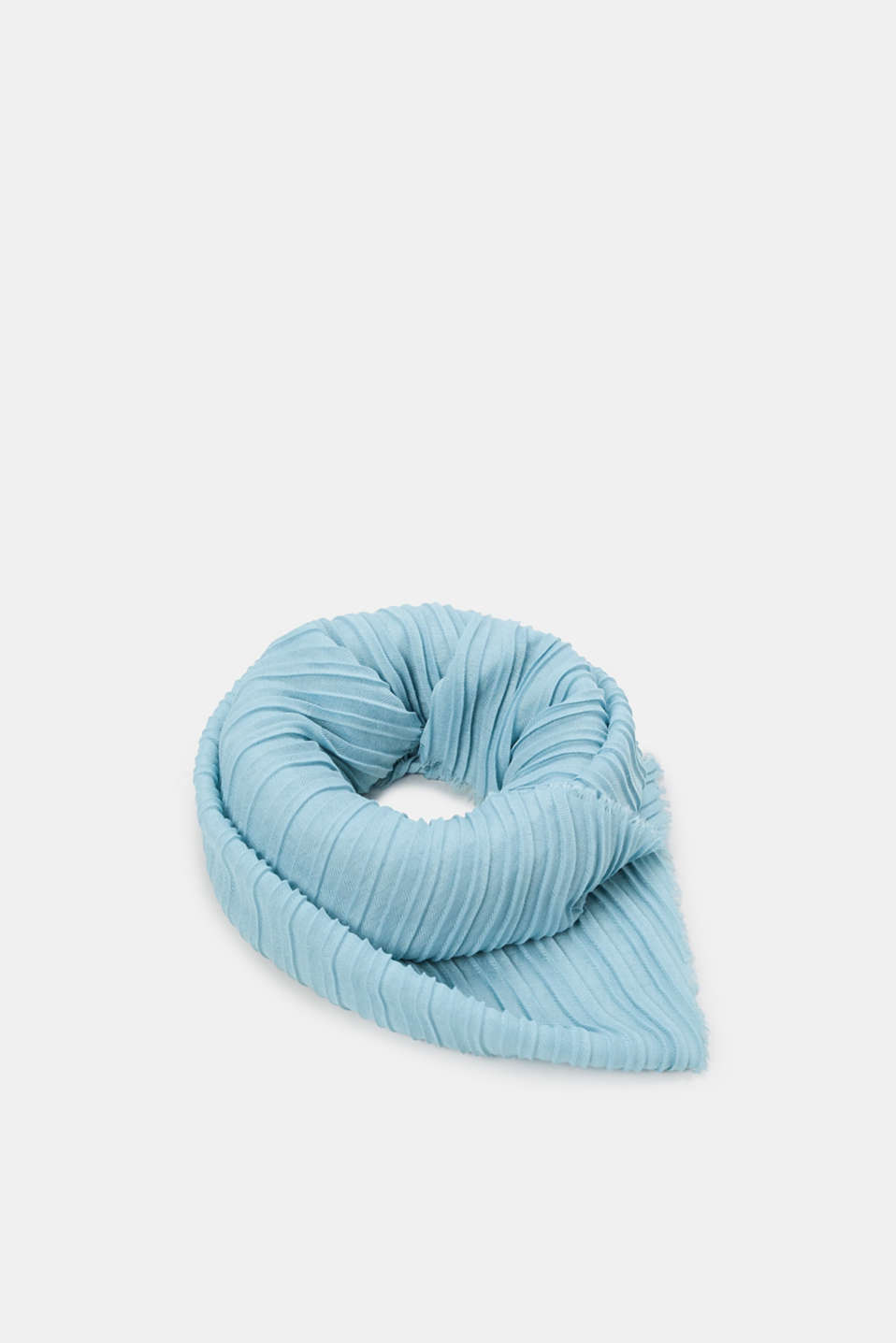 Soft woven scarf with accordion pleats, LIGHT TURQUOISE, detail image number 0