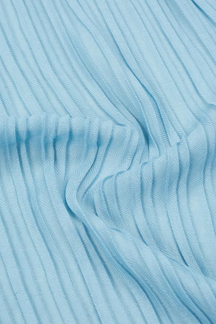 Softer Web-Schal mit Plissee-Fältchen, LIGHT TURQUOISE, detail image number 1