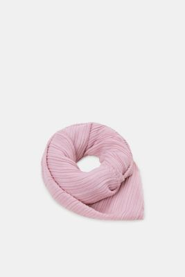 Soft woven scarf with accordion pleats, OLD PINK, detail