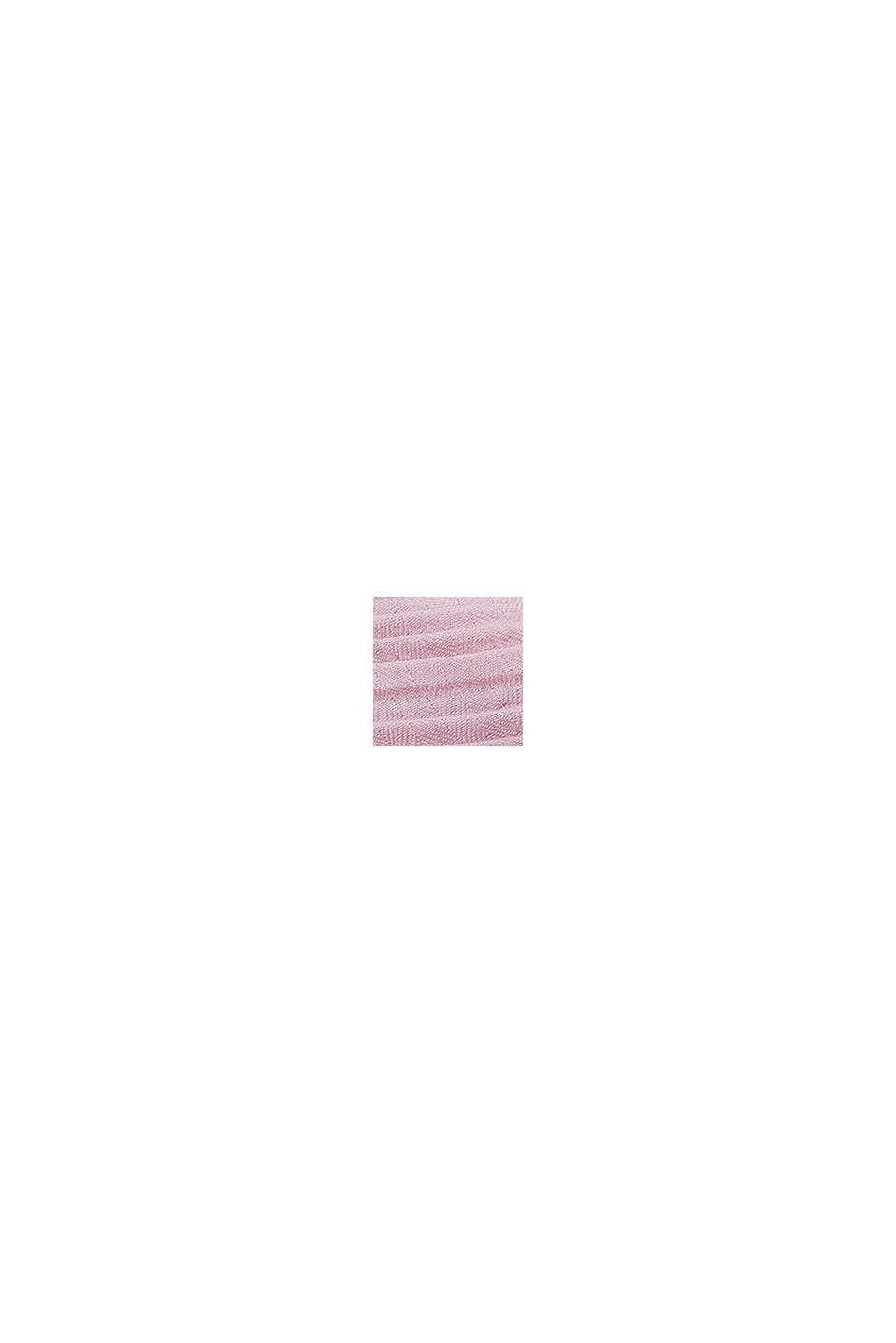 Softer Web-Schal mit Plissee-Fältchen, OLD PINK, swatch