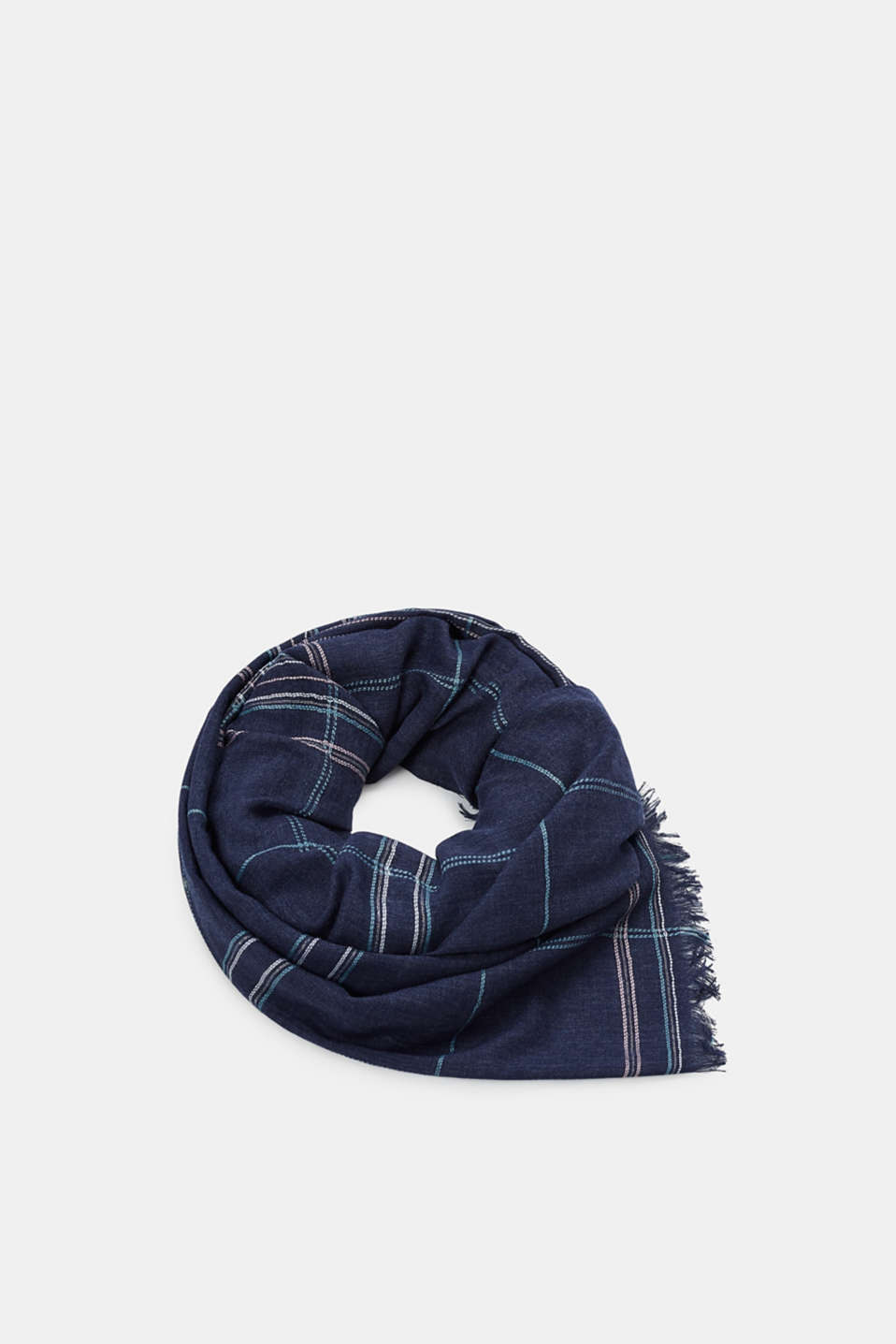 Esprit - Scarf with glittering check pattern