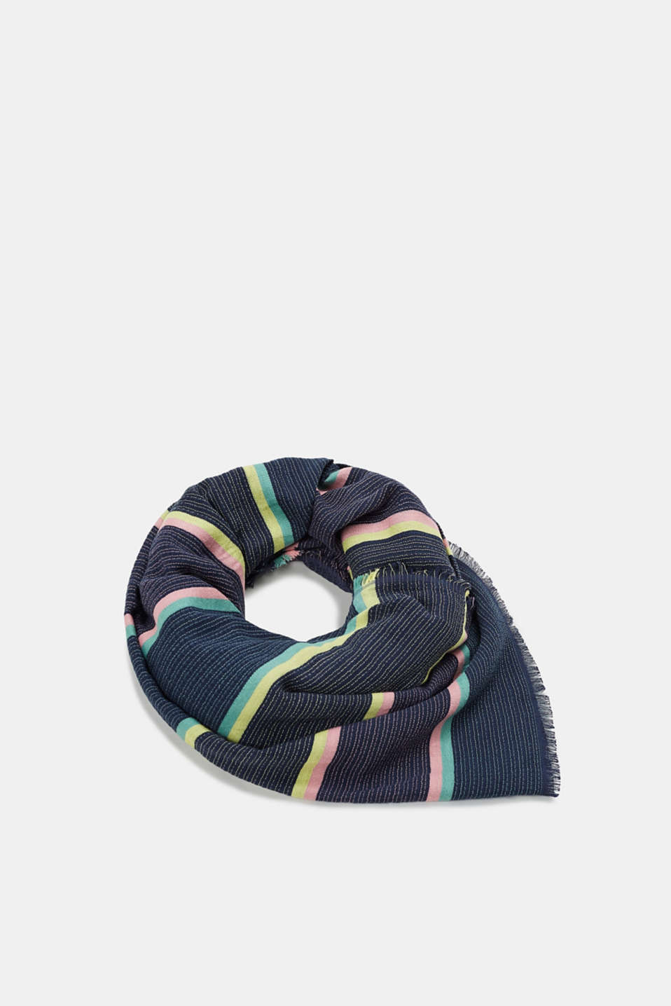 Esprit - Textured scarf with a fine striped pattern