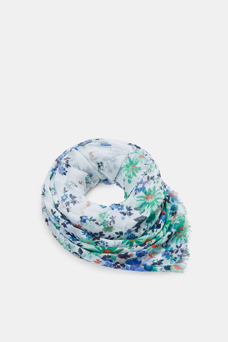 Esprit - Woven scarf with flora print