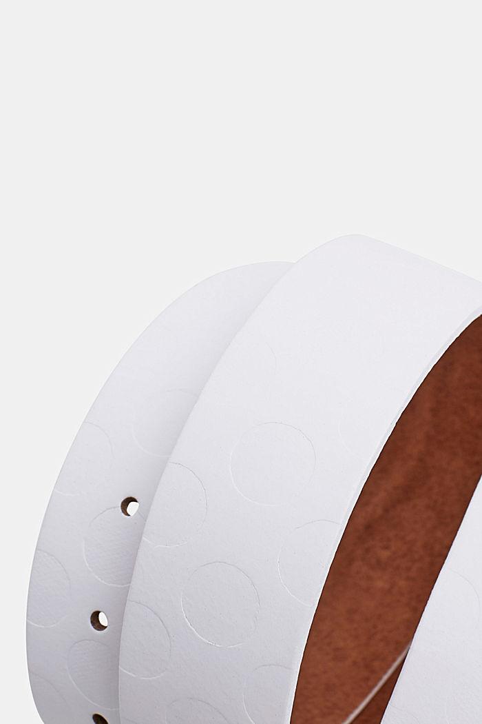 Gürtel mit Polka Dots, aus Leder, WHITE, detail image number 1