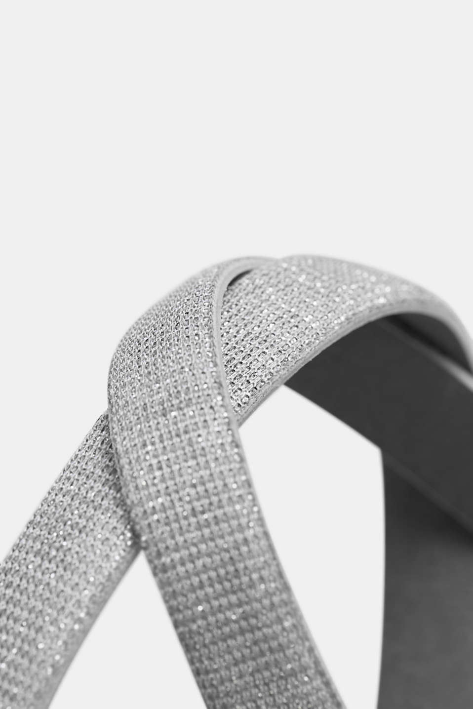 Belts non-leather, SILVER, detail image number 1