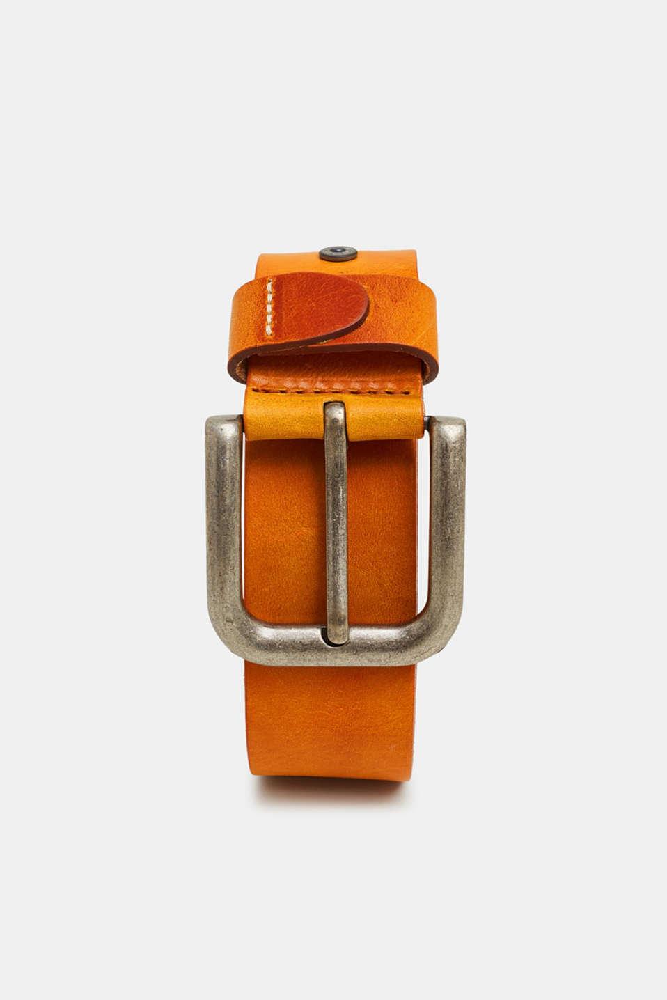 Leather belt, CARAMEL, detail image number 0