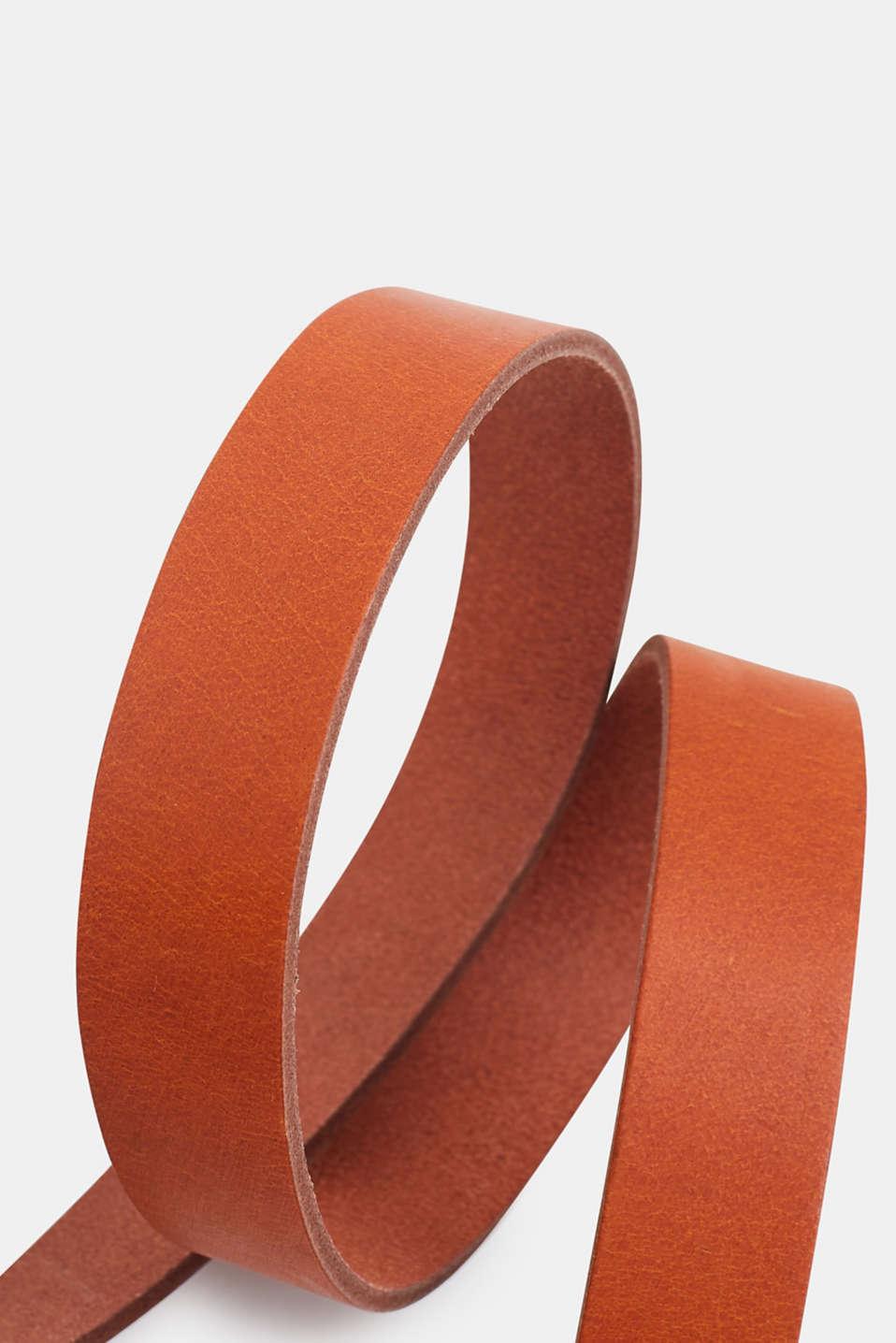 Leather belt, CARAMEL, detail image number 1