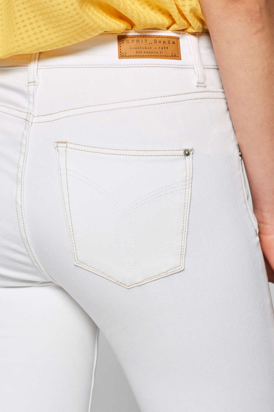 Pants denim, WHITE, detail image number 2