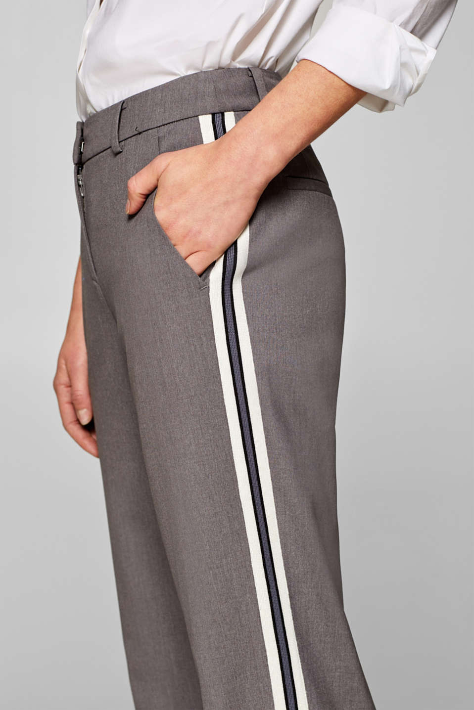 Pants woven, LIGHT GREY, detail image number 1