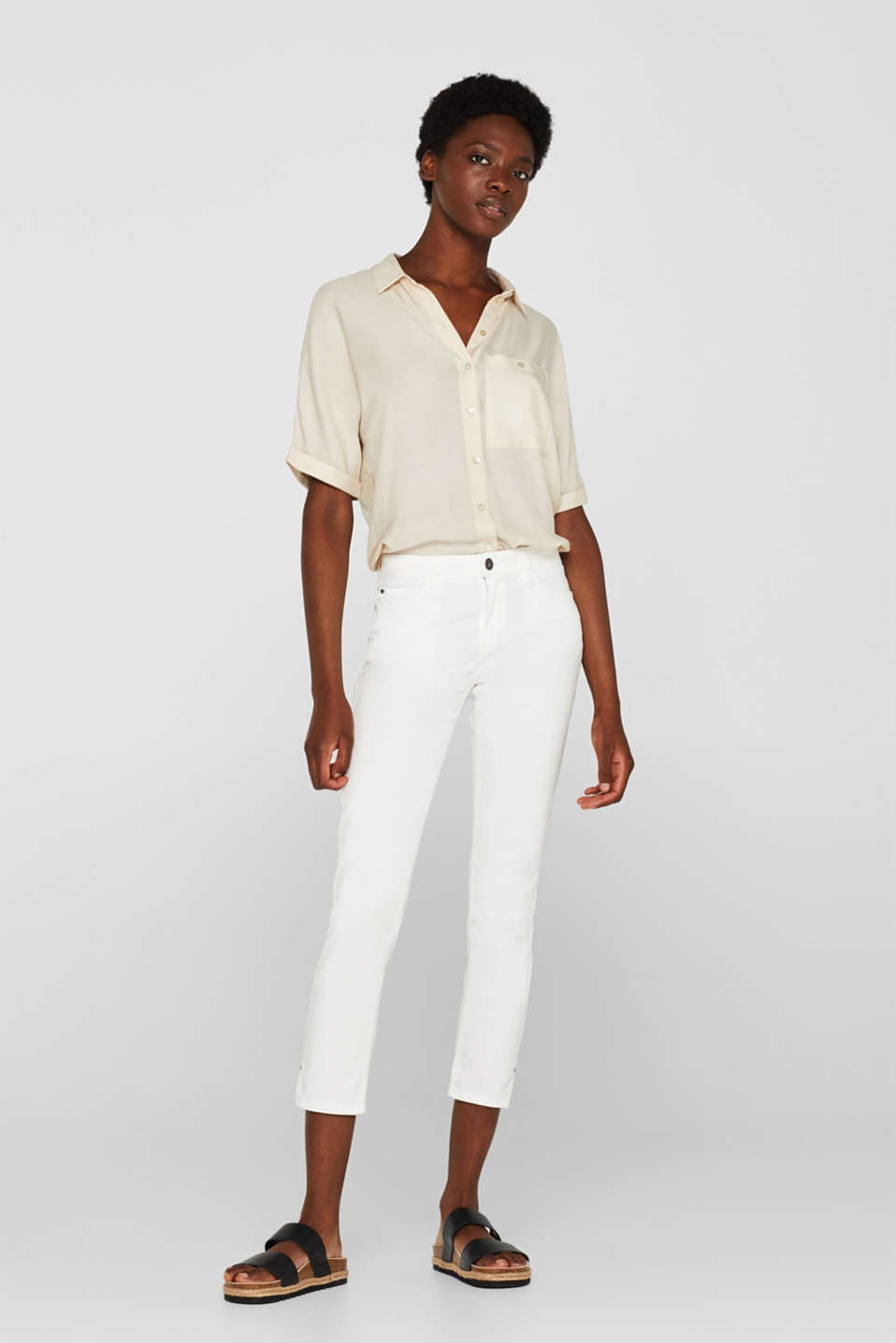 Esprit - SUMMER CAPRIS in soft stretch cotton