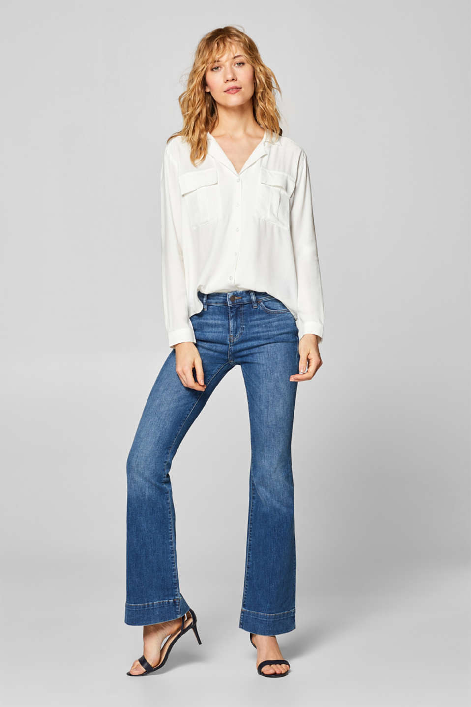 Esprit - Stretch jeans with flared legs