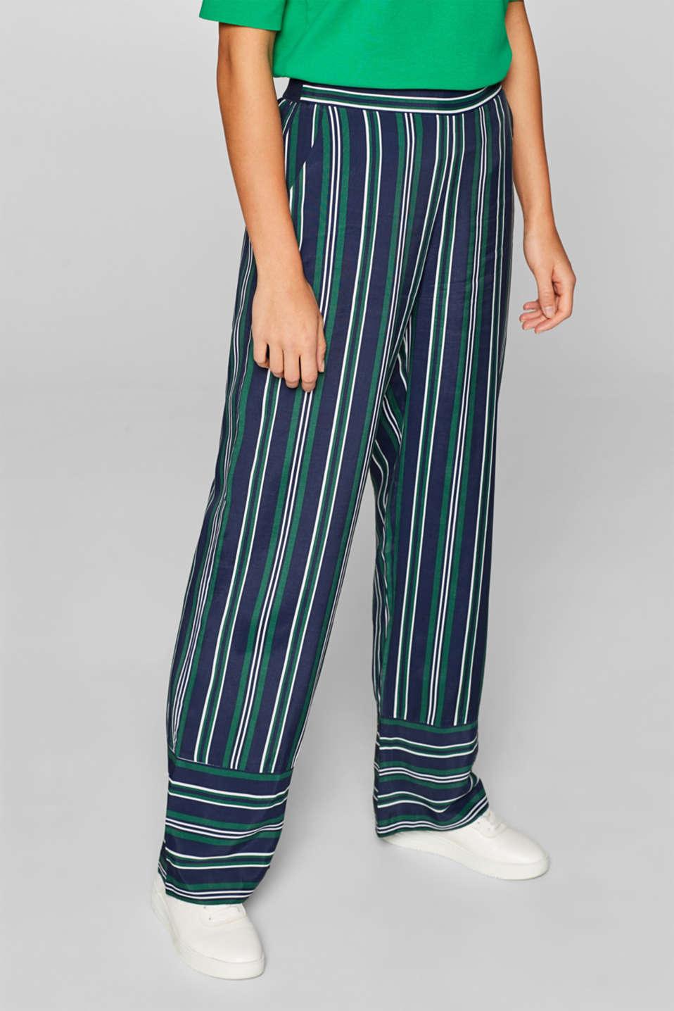 Pants woven, DARK TEAL GREEN, detail image number 6